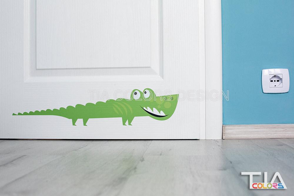stiker crocodil